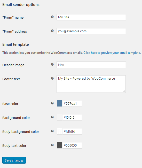 WooCommerce - Settings, Emails.2