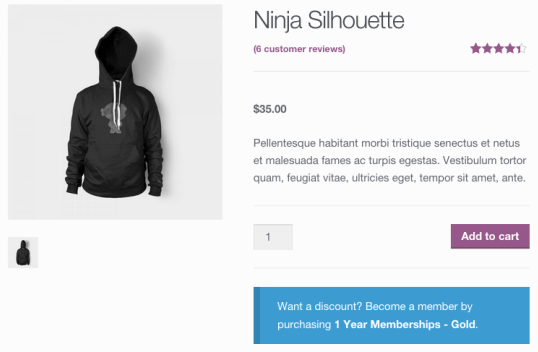 WooCommerce Memberships - Member Only Discount