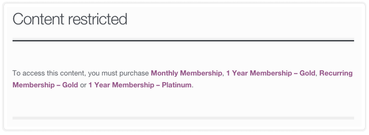 WooCommerce Memberships - Redirect to Page