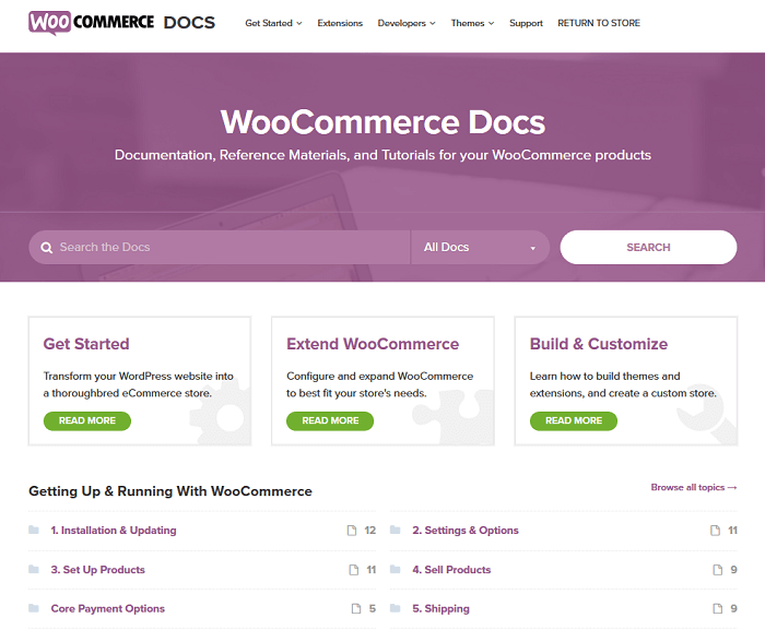 If you're a DIY-er, you can get WooCommerce help from the Official WooCommerce Documentation