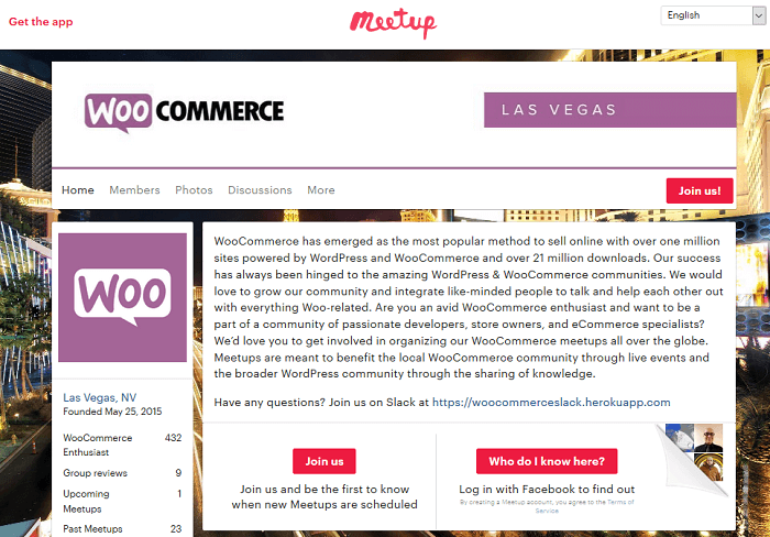 WooCommerce help is available at many Meetups