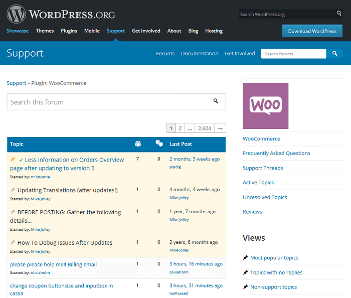 Forum help (no phone number) is available on the WooCommerce Support Forum
