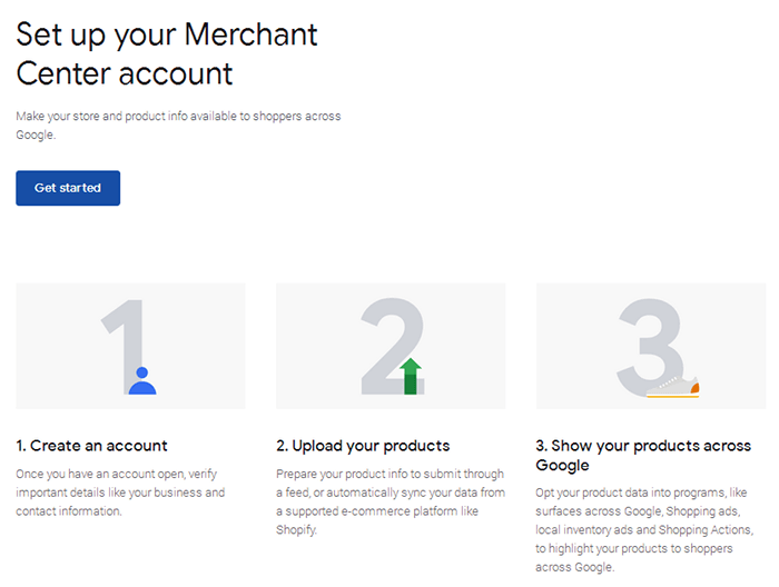 Google Merchant Center - Get Started