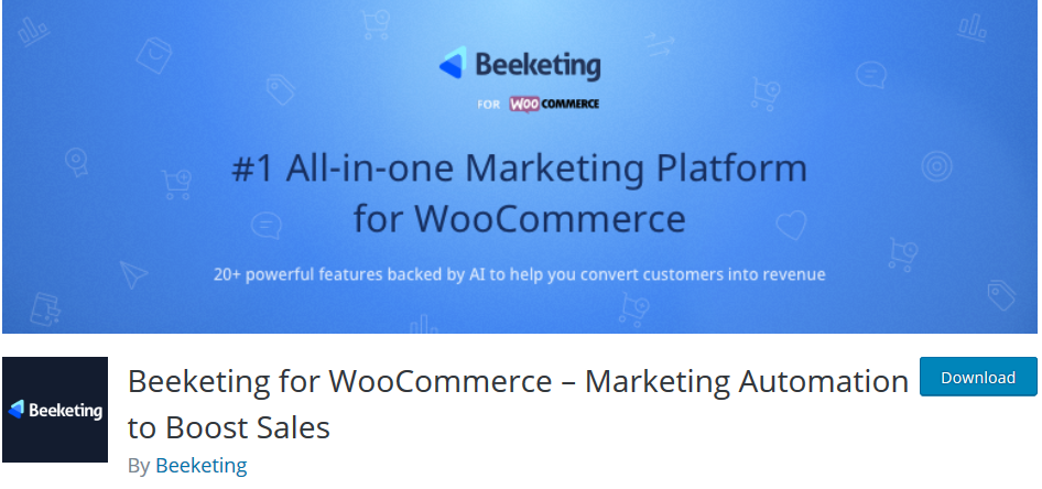 Beeketing - Woocommerce plugin to reduce cart abandonment rate