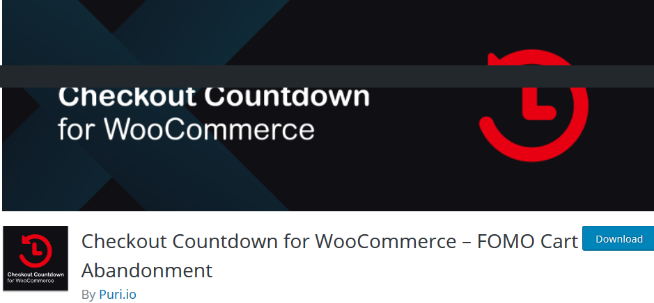 Checkout Countdown - A WooCommerce plugin to recover your cart