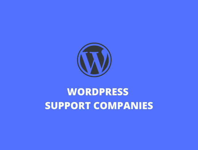 WordPress support companies